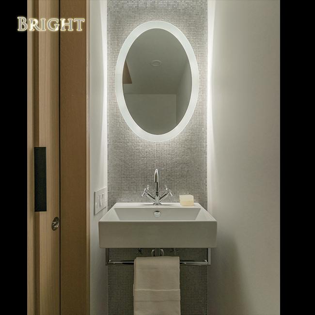 Oval 360 Edge Lighted Bathroom Mirror China Led Bathroom