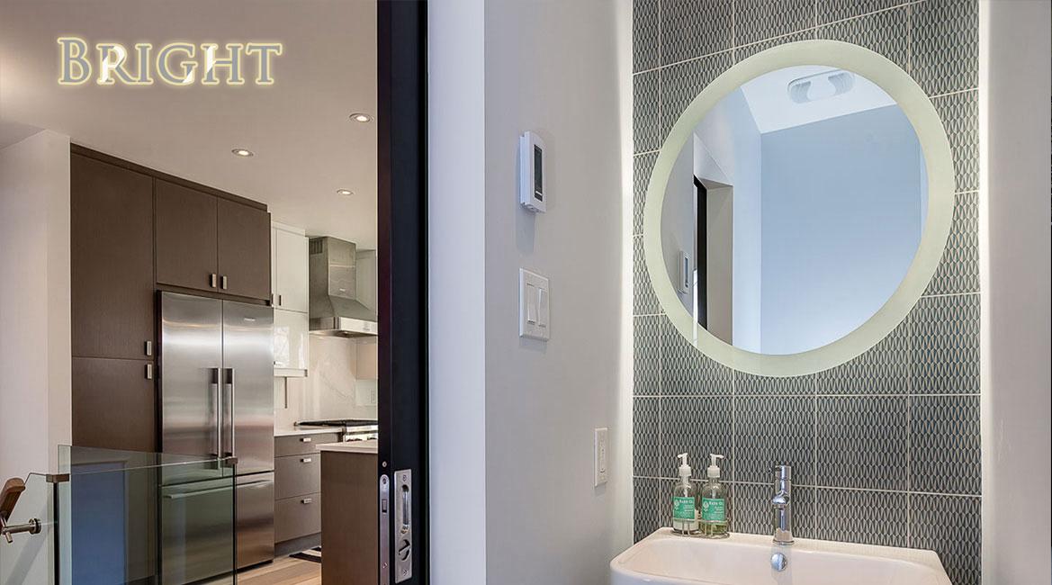 Round Hotel Vanity Mirror With Lights China Led Bathroom