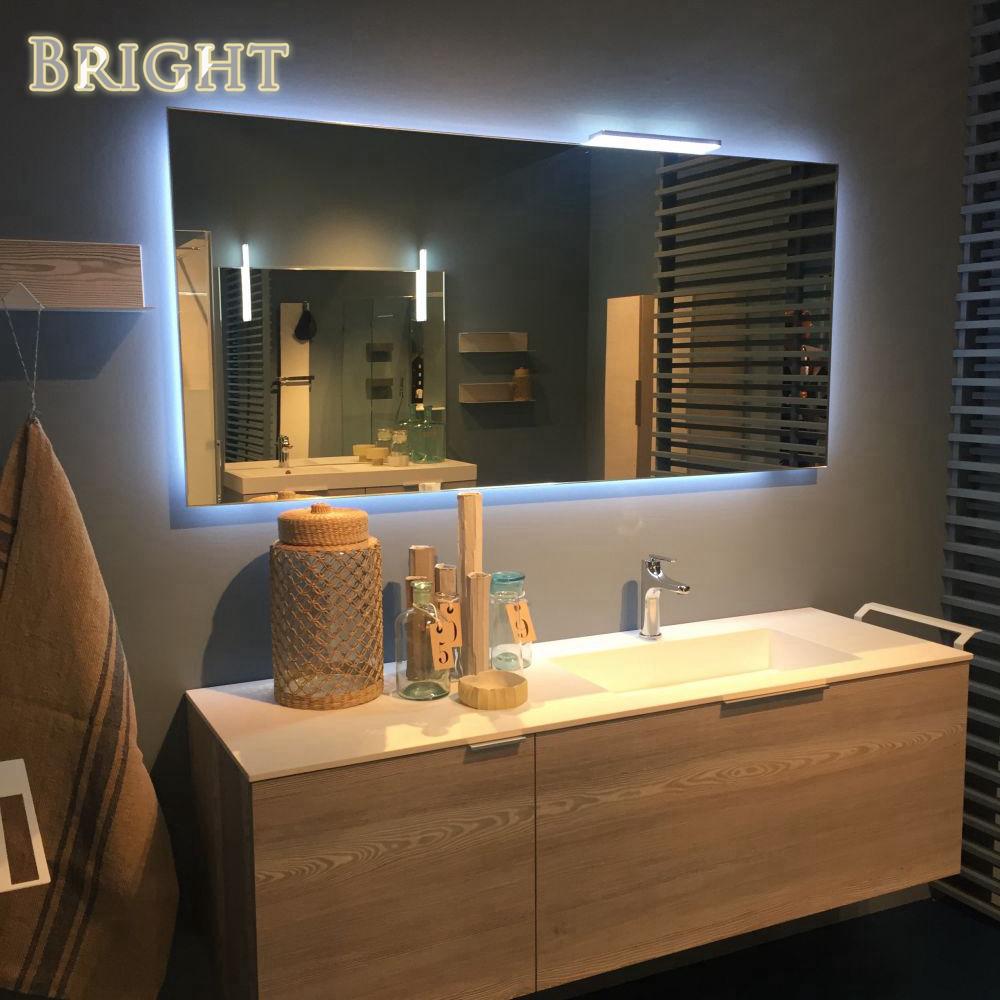 Salon spa hotel art decor backlit mirror china led for Hotel spa decor